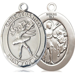 St Sebastian Dance<br>Oval Patron Saint Series<br>Available in 3 Sizes