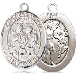 St Sebastian Choir<br>Oval Patron Saint Series<br>Available in 3 Sizes
