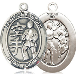 St Sebastian Karate<br>Oval Patron Saint Series<br>Available in 3 Sizes