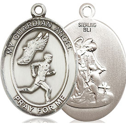 Guardian Angel Track&Field-Men<br>Oval Patron Saint Series<br>Available in 3 Sizes