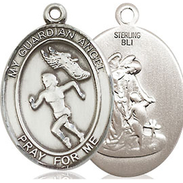 Guardian Angel Track&Field<br>Oval Patron Saint Series<br>Available in 3 Sizes