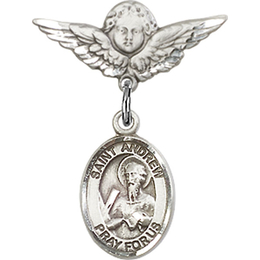 Saint Andrew the Apostle<br>9000/0735 - 1/2 x 1/4<br>Baby Badge