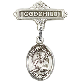 Saint Andrew the Apostle<br>9000/0736 - 1/2 x 1/4<br>Baby Badge