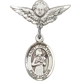 St Agatha<br>Baby Badge - 9003/0735