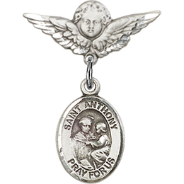 St Anthony of Padua<br>Baby Badge - 9004/0735