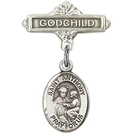 St Anthony of Padua<br>Baby Badge - 9004/0736