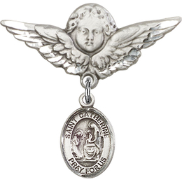St Catherine of Siena<br>Baby Badge - 9014/0733