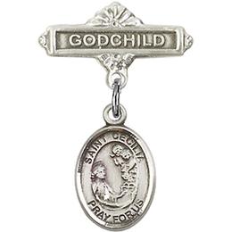 St Cecilia<br>Baby Badge - 9016/0736