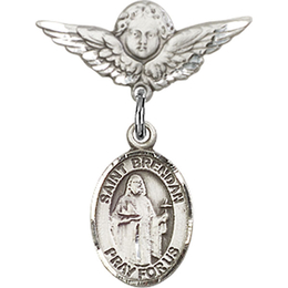 St Brendan the Navigator<br>Baby Badge - 9018/0735