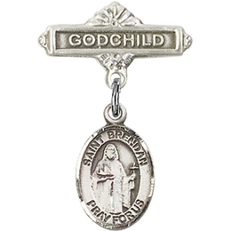 St Brendan the Navigator<br>Baby Badge - 9018/0736