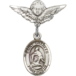 St Charles Borromeo<br>Baby Badge - 9020/0735