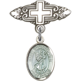 St Christopher<br>Baby Badge - 9022E/0731