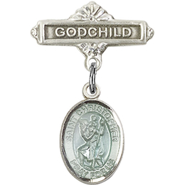 St Christopher<br>Baby Badge - 9022E/0736