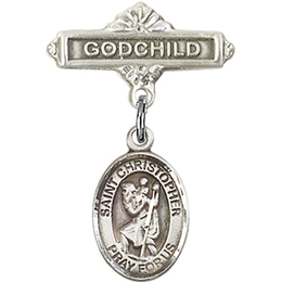 St Christopher<br>Baby Badge - 9022/0736