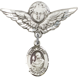 St Clare of Assisi<br>Baby Badge - 9028/0733