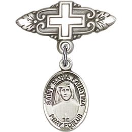 St Maria Faustina<br>Baby Badge - 9069/0731