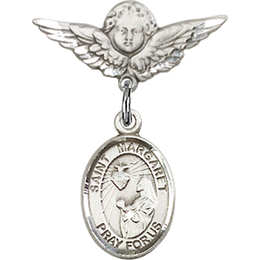 St Margaret Mary Alacoque<br>Baby Badge - 9072/0735