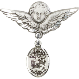 St Michael the Archangel<br>Baby Badge - 9076/0733