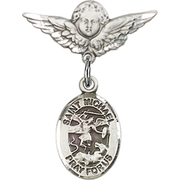 St Michael the Archangel<br>Baby Badge - 9076/0735