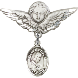St Philomena<br>Baby Badge - 9077/0733