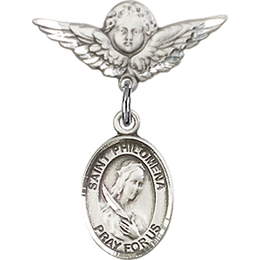 St Philomena<br>Baby Badge - 9077/0735