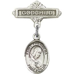 St Philomena<br>Baby Badge - 9077/0736