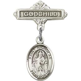 St Nicholas<br>Baby Badge - 9080/0736