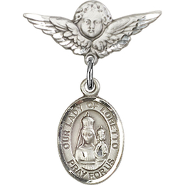 Our Lady of Loretto<br>Baby Badge - 9082/0735