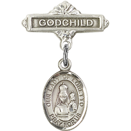 Our Lady of Loretto<br>Baby Badge - 9082/0736