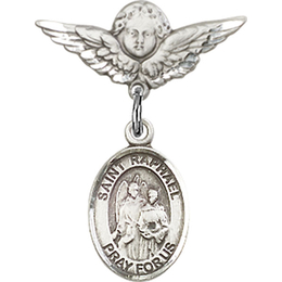 St Raphael the Archangel<br>Baby Badge - 9092/0735