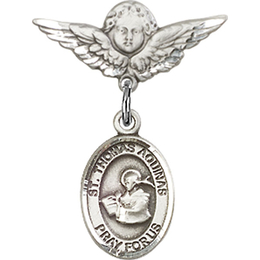 St Thomas Aquinas<br>Baby Badge - 9108/0735