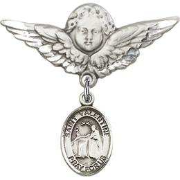 St Valentine of Rome<br>Baby Badge - 9121/0733