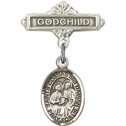 Sts Cosmas & Damian<br>Baby Badge - 9132/0736