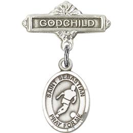 St Sebastian Soccer<br>Baby Badge - 9164/0736