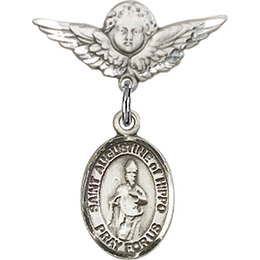 St Augustine of Hippo<br>Baby Badge - 9202/0735