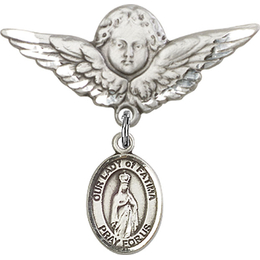 Our Lady of Fatima<br>Baby Badge - 9205/0733
