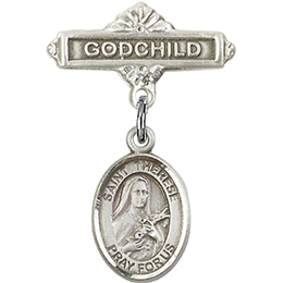 St Therese of Lisieux<br>Baby Badge - 9210/0736