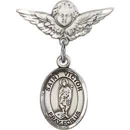 St Victor of Marseilles<br>Baby Badge - 9223/0735