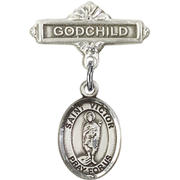 St Victor of Marseilles<br>Baby Badge - 9223/0736