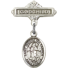 St Isidore the Farmer<br>Baby Badge - 9276/0736
