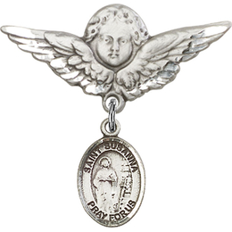 St Susanna<br>Baby Badge - 9280/0733