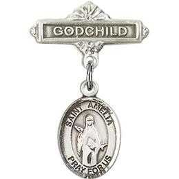 St Amelia<br>Baby Badge - 9313/0736