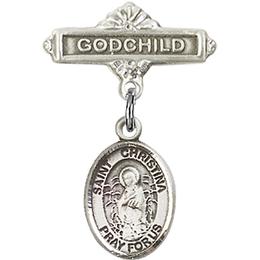 St Christina the Astonishing<br>Baby Badge - 9320/0736