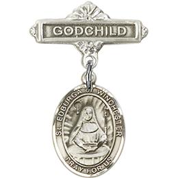 St Edburga of Winchester<br>Baby Badge - 9324/0736