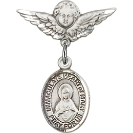 Immaculate Heart of Mary<br>Baby Badge - 9337/0735