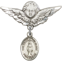 Virgin of the Globe<br>Baby Badge - 9345/0733
