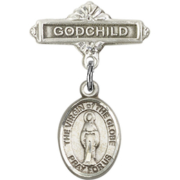 Virgin of the Globe<br>Baby Badge - 9345/0736