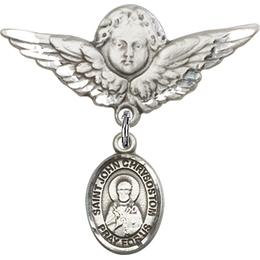 St John Chrysostom<br>Baby Badge - 9357/0733