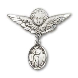 St Aidan of Lindesfarne<br>Baby Badge - 9381/0733