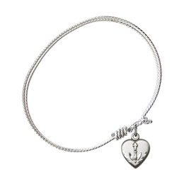 0891 - Heart / Confirmation Bangle<br>Available in 8 Styles